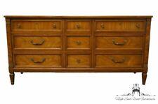 "HERITAGE FURNITURE Burled Walnut Italian Provincial 64"" Triple Dresser 20-151-73"