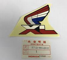 Adesivo Sx serbatoio - Mark L. Fuel tank - Honda XL600LM NOS: 87124-MM0-620ZC