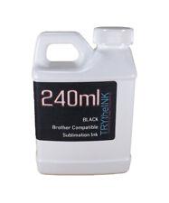 Dye Sublimation Ink Black 240ml bottle for Brother Inkjet Printers