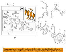 HYUNDAI OEM 12-13 Accent Brake-Front Pads 581011RA00