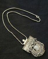 Indian Silver Oxidize Afghani Ethnic Tribal Gypsy Boho Bollywood Mirror Necklace