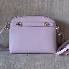 FURLA CAMELIA PINK MINI PIPER Italian Leather Crossdody Bag Gold Tone Hardware