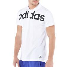 Adidas Polo Blanco Hombre Climalite Algodón Lineal SPORTS Gimnasio Ejercicio Top