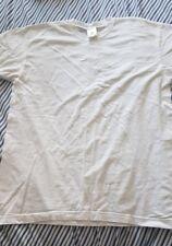 Unisex White Cotton Tshirt x 1 Brand New Medium Plain