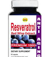 Resveratrol 60 Capsules HUGE 1000MG Polygonum Cuspidatum Anti Aging PURE EXTRACT