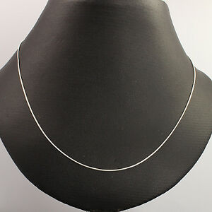Pure 925 Sterling Silver Jewelry Necklace 0.90 mm Thin Snake Chain 18inch 46cm