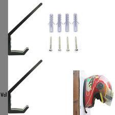 2× Motorcycle / Hockey Helmet Hanger Hook Helmet Rack Holder Storage Mount