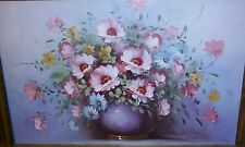 Beautiful Vintage oil painting floral flowers 24 x 36