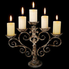 Aged Metal Garden Candelabra (AM11) - antique, gothic, romantic, candle holder,