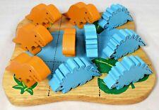 Kid's Wooden Dinosaur Tic-Tac-Toe Game