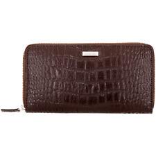 Calvin Klein continental para Hombre de Cuero marrón Grandes Cremallera alrededor de carteras 2979511-BRN