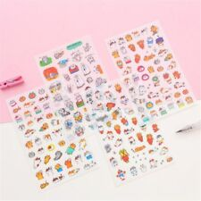 6 Sheets Cartoon Cats PVC Stickers Stationery DIY Scrapbooking Stickers Hot