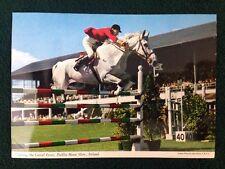 Postcard Clearing the Corral Fence Dublin Horse Show Ireland John Hinde