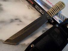 """Black Ronin Ninja Tanto Dagger Boot Knife 5mm Full Tang 3273 9 1/2"""" OA Tan New"""