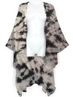 Tie Dye Kimono Duster Jacket Open Front Cardigan Wrap Kaftan Beach Cover Up S-36