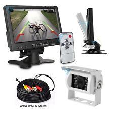 """Kit Retromarcia Cablato Telecamera posteriore HD e Monitor 7"""" LCD Camper Caravan"""