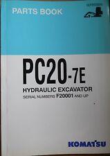 Komatsu escavatori idraulici PC 20-7e RICAMBIO elenco/catalogo