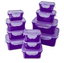 22-teiliges Frischhaltedosen-Set, 4-Fach Klickverschluss, lila