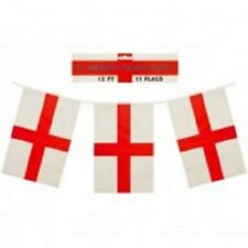 England St George  flag bunting- 11 flags- 12 feet in length- new condiiton