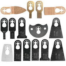 15Pcs Quick Change Oscillating Multi Tool Saw Blades for BOSCH FEIN Dewalt Kit