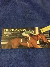 MINT 1980 SARATOGA TRAVERS PROGRAM CHAMPION TEMPERENCE HILL u/c KENTUCKY DERBY