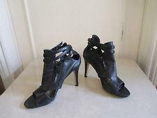 Barratts Negro Abierto Tobillo Tacones Altos Zapatos Sandalias de altura UK 6 EU 39