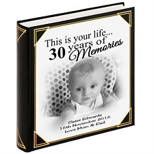 """Personalised large photo album, guestbook, 400 x 6x4"""" photos, 30th birthday gift"""