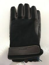 Cole Haan Men Tech Friendly Nubuck Overlay Leather Gloves Black/brown Large NWT=