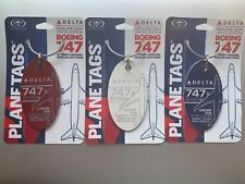 MotoArt PlaneTags Delta Air Lines 747-400 Plane Tag Red White Blue N665US 3 Pack