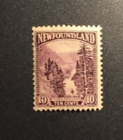 Stamps Canada Newfoundland Sc139 10c dark violet Humber River of 1923-24 MNH.