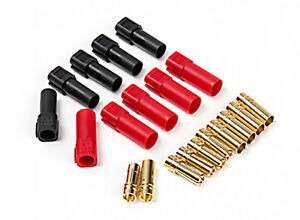 GENUINE AMASS XT150 (ESC/CHARGER) w/6mm Gold Connectors Red & Black (M/F Pairs)