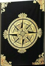 Yellow compass Tapestry