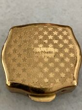 New listing Vintage Round Goldtone Metal Compact by Stratton Made in England