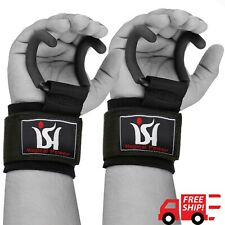Power Weight Lifting Training Gym Hooks Grips bar Straps Wrist Supports Lift