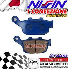 2 PASTIGLIE FRENO POSTERIORI NISSIN 2P-204NS TRIUMPH STREET TRIPLE 675 2008-2012