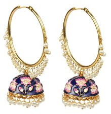 Ethnic Traditioanal Gold Plated Indian Fashion Earrings Partywear Jewellery