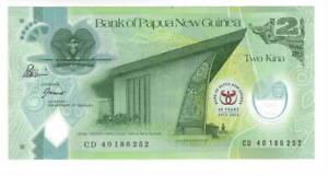PAPUA NEW GUINEA 2 Kina POLYMER Commemorative aXF Banknote (2013) P-45 Prefix CD