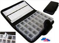 7 Day Pill Wallet Box Organiser Weekly Medicine Tablet Travel Storage Dispenser