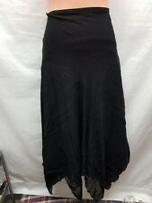 JACQUI E BLACK ASYMMETRICAL LONG SKIRT EVENING/WEDDING WEAR SIZE 8
