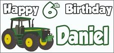 Tractor 6th Birthday Banner x 2 - Party Decorations - Personalised ANY NAME