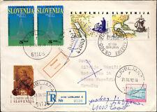 Slowenien,Jugoslawien,1992,Christoph Kolumbus,selten Mischfrankatur,Reko-Brief