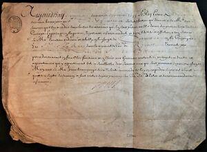 KING LOUIS XIV SIGNED PATENT FOR CORNETT LIEUTENANT 1674 König von Frankreich