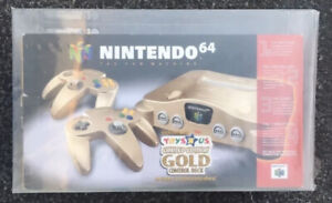 Nintendo 64 N64 Gold Toys R Us Console NUS-001 (USA) GOLD System New VGA 85!!!