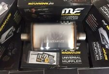 """2.25"""" 4x9 Oval 14"""" Satin Stainless MagnaFlow Universal Exhaust Silencer 11215"""