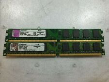 - 4GB (2x 2GB) Kingston DDR2 800MHz KVR800D2N5/2G PC2-6400 DESKTOP RAM