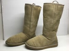 *5 WOMENS UGG AUSTRALIA WINTER SUEDE IVORY BOOTS SIZE 9