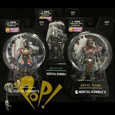 Mortal Kombat X Quan Chi KITANA Kotal Kahn VARIANT PX Figure SET Series 2 MEZCO