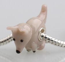 1pcs MURANO GLASS BEAD LAMPWORK Fit European Charm Bracelet DWO157 lovely Animal