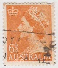 (PDX516) 1955 AU 6½d Orange QEII NO W/M (G)