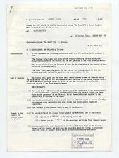 Aztec Camera Colston Hall, Bristol Hiring Agreement 23/6/88